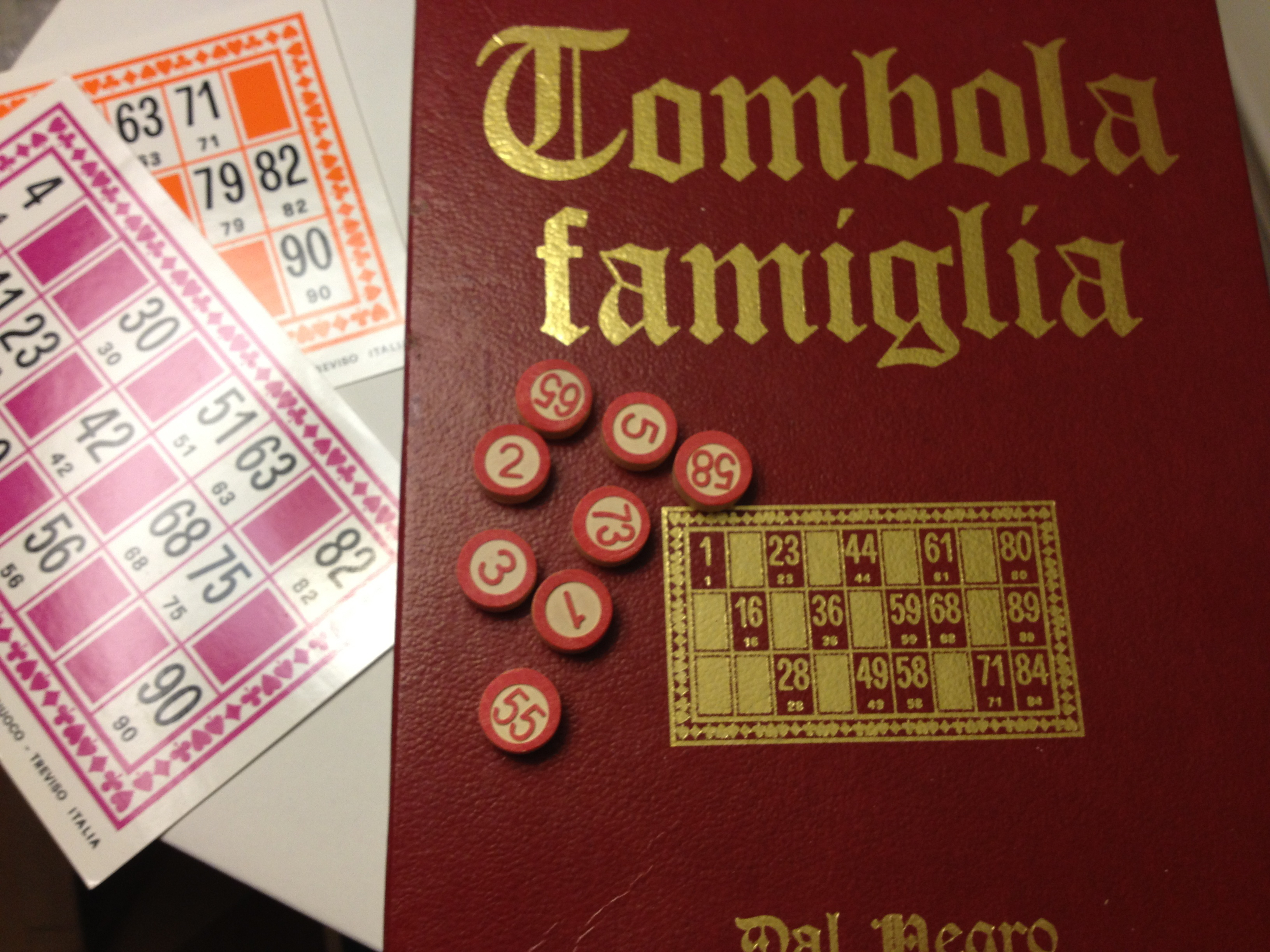 italian tombola bingo game