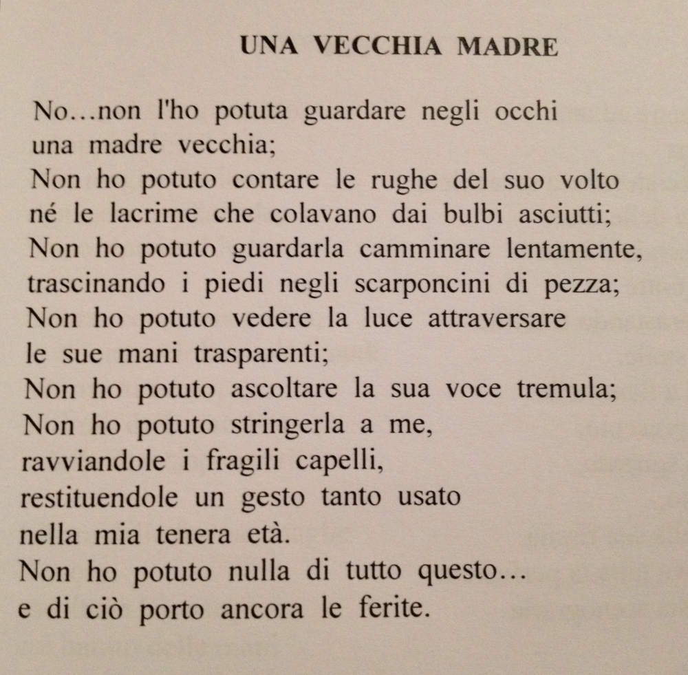 Celebrating Mother's Day with an Italian Poem. (2/2)