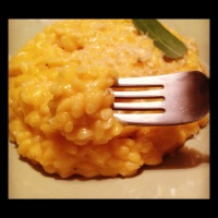 A Fall recipe: Butternut Squash Risotto with Fontina Fonduta