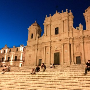 noto - duomo by night