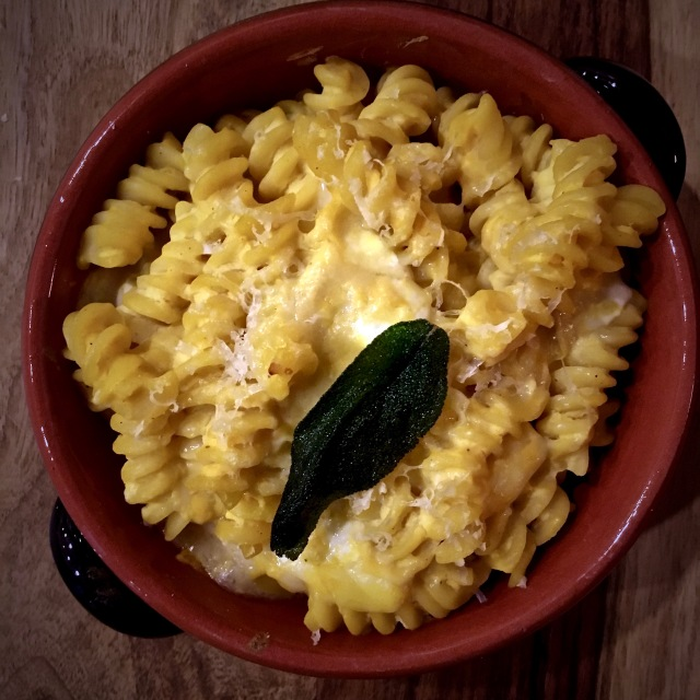 BBaked pasta 4 formaggi with pumpkin